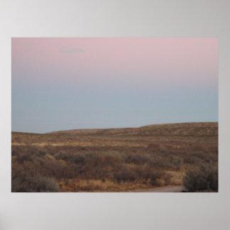 Cielo bonito en Tejas del oeste Póster