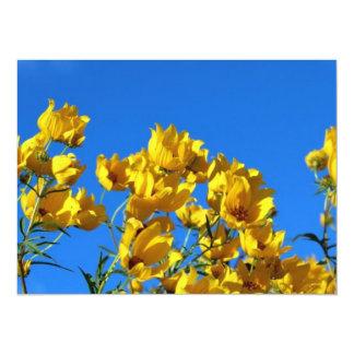 Cielo brillante de los Wildflowers amarillos Invitación 13,9 X 19,0 Cm