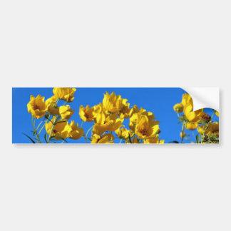 Cielo brillante de los Wildflowers amarillos Pegatina Para Auto