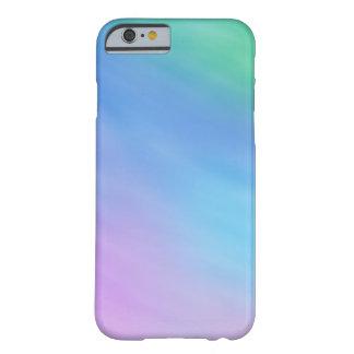 Cielo coloreado arco iris suave femenino funda para iPhone 6 barely there