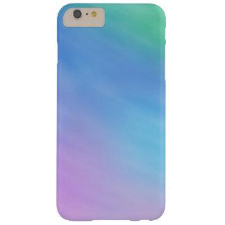 Cielo coloreado arco iris suave femenino funda de iPhone 6 plus barely there