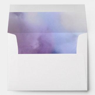 Cielo colorido de la tarjeta de felicitación A7 Sobres