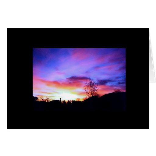 cielo colorido tarjeta
