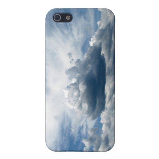 Cielo con la caja de la mota de las nubes iPhone 5 funda