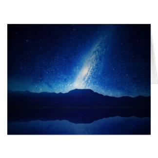 Cielo con la constelación asombrosa tarjeta de felicitación grande