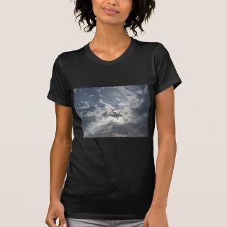Cielo con las nubes de cumulonimbus de los playera