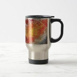 Cielo cósmico con la pintura abstracta de las taza de viaje de acero inoxidable