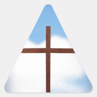 Cielo cruzado pegatina triangular