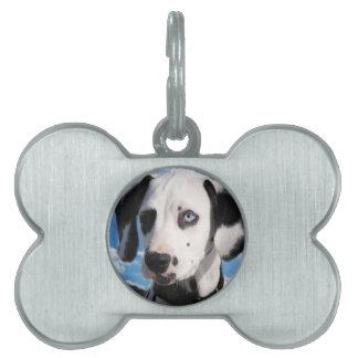 Cielo dálmata del perrito placa mascota
