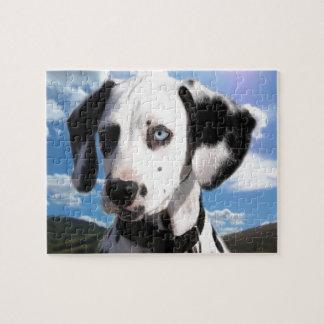 Cielo dálmata del perrito puzzle con fotos