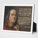 Cielo de Benjamin Franklin Placa Para Mostrar
