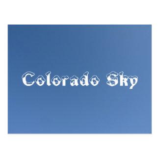 Cielo de Colorado Tarjeta Postal