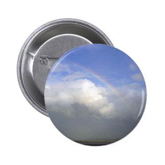 Cielo de Couds de los arco iris de Irlanda Pin Redondo 5 Cm