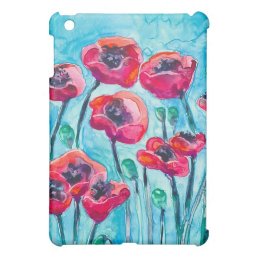 Cielo de la amapola - arte floral