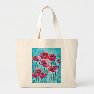 Cielo de la amapola - arte floral bolsas de mano