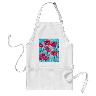 Cielo de la amapola - arte floral delantal