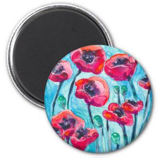 Cielo de la amapola - arte floral iman