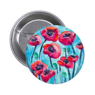 Cielo de la amapola - arte floral pin