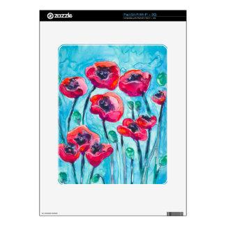 Cielo de la amapola - arte floral iPad skins