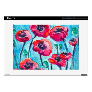 Cielo de la amapola - arte floral portátil skin