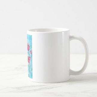 Cielo de la amapola - arte floral tazas