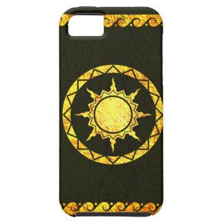 Cielo de la Atlántida en el cuero verde iPhone 5 Case-Mate Carcasas