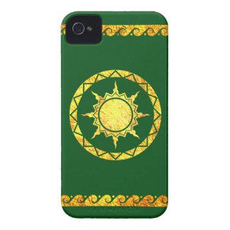 Cielo de la Atlántida en verde Case-Mate iPhone 4 Carcasa