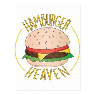 Cielo de la hamburguesa tarjeta postal