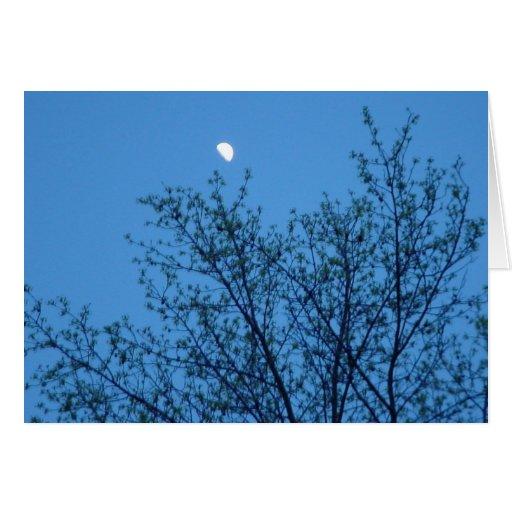 Cielo de la luna azul tarjeta