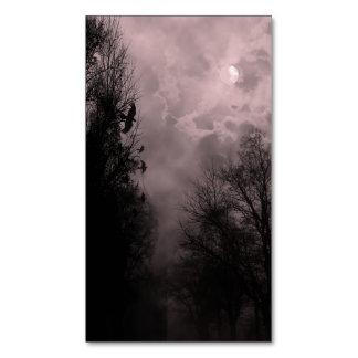 Cielo de la Luna Llena y tarjeta de visita