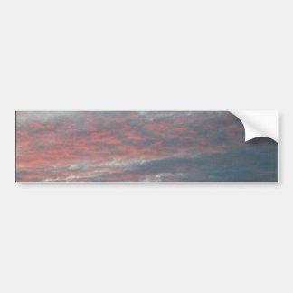 cielo de la noche etiqueta de parachoque