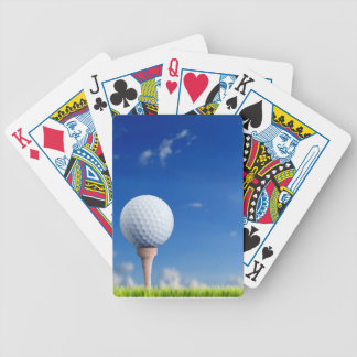 Cielo de la pelota de golf barajas de cartas