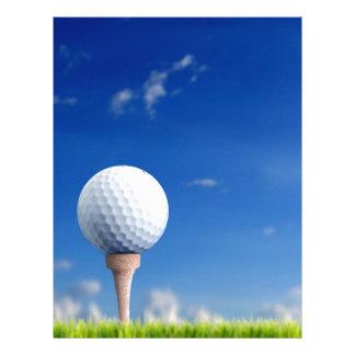 Cielo de la pelota de golf membretes personalizados