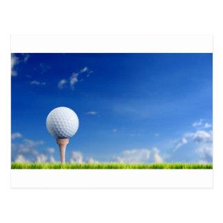 Cielo de la pelota de golf postales