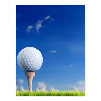 Cielo de la pelota de golf postal
