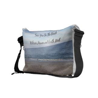 Cielo de la playa bolsas de mensajeria