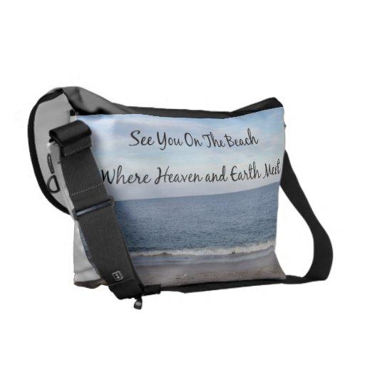 Cielo de la playa bolsa de mensajeria
