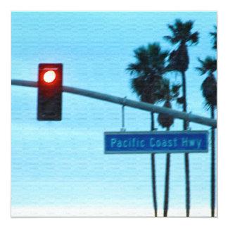 """Cielo de la playa de California de la muestra de Invitación 5.25"""" X 5.25"""""""