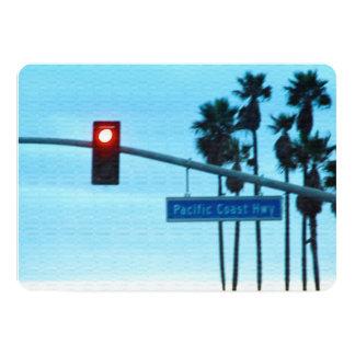 """Cielo de la playa de California de la muestra de Invitación 5"""" X 7"""""""