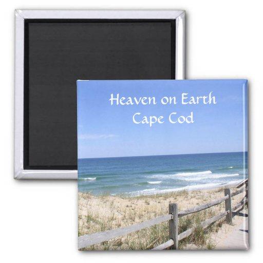 Cielo de la playa de Cape Cod mA en el imán del ca