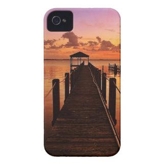 Cielo de la puesta del sol iPhone 4 funda