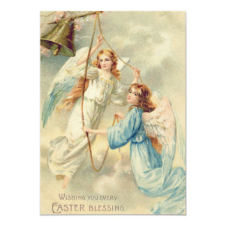 """Cielo de la querube del ángel que suena Bell Invitación 5"""" X 7"""""""