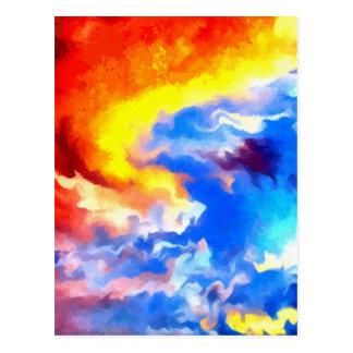 cielo de la salida del sol de la puesta del sol tarjetas postales