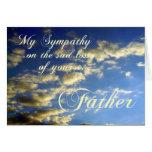 Cielo de la tarde/Condolencia-Pérdida de padre Felicitación