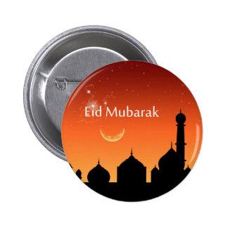 Cielo de la tarde de Eid - botón Pin Redondo De 2 Pulgadas