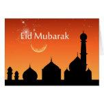 Cielo de la tarde de Eid - tarjeta de felicitación