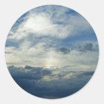 Cielo de la tormenta pegatina redonda