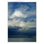 Cielo de la tormenta tarjeta de felicitación