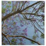 cielo de las flores de las ramas de árbol del jaca servilleta de papel