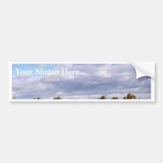 Cielo de las nubes pegatina de parachoque